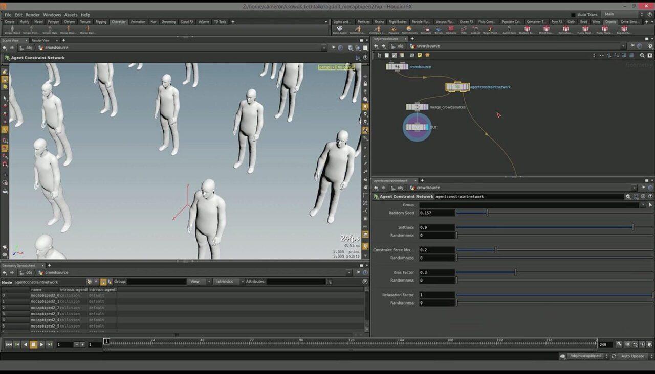 Curso Online Houdini Crowds | Creación y Simulación de Multitudes
