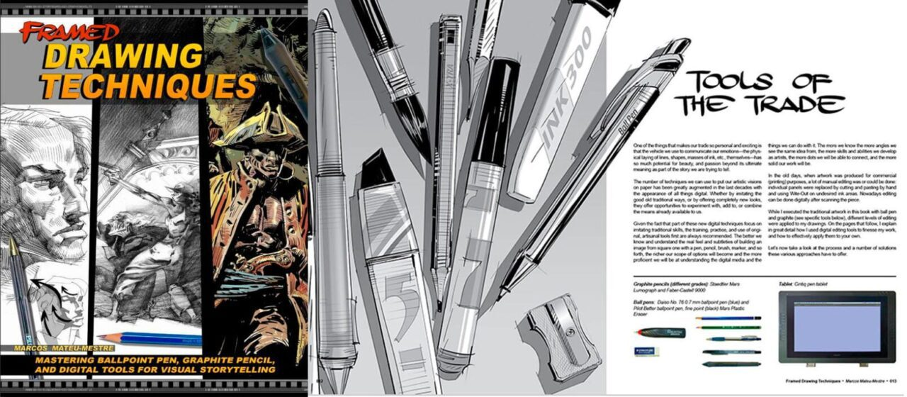 Framed Drawing Techniques: Mastering Ballpoint Pen, Graphite Pencil and Digital Tools for Visual | Marcos Mateu-Mestre