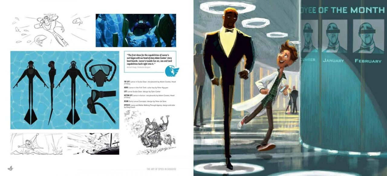 The Art of Spies Disguise Artbook