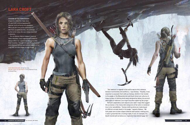 The Art of Tomb Raider diseño de personajes
